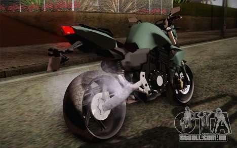Yamaha FZ6 para GTA San Andreas vista interior