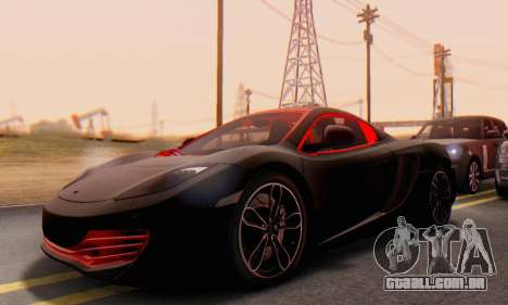 Mclaren MP4-12C Spider Sonic Blum para GTA San Andreas vista interior