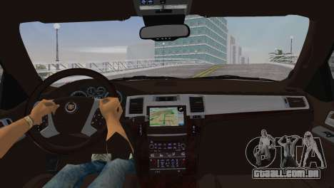 Cadillac Escalade ESV Luxury 2012 para GTA Vice City vista traseira esquerda