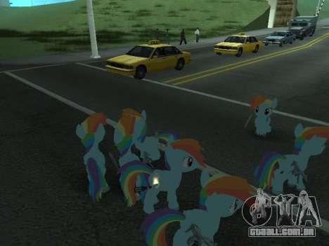 Rainbow Dash para GTA San Andreas oitavo tela
