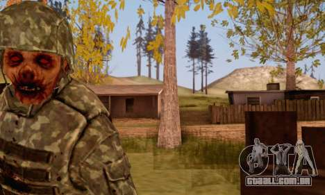 Zombie Soldier para GTA San Andreas por diante tela