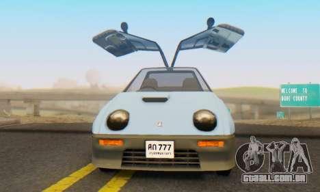 Mazda Autozam AZ-1 para GTA San Andreas vista traseira