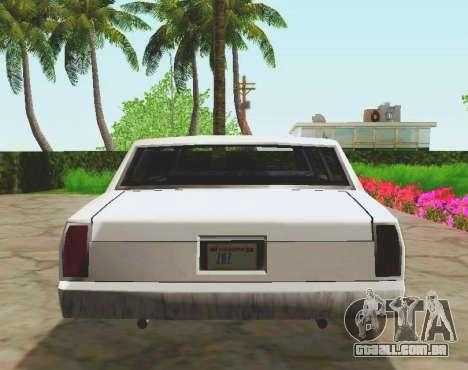 Tahoma Limousine para GTA San Andreas vista traseira
