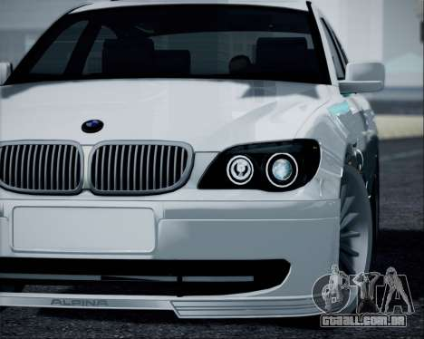 BMW Alpina B7 para GTA San Andreas traseira esquerda vista