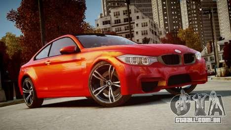 BMW M4 Coupe 2014 v1.0 para GTA 4 vista de volta