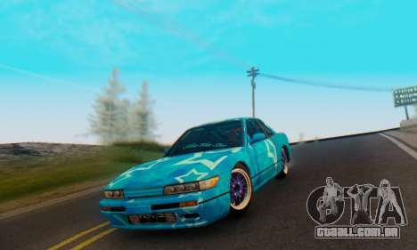Nissan Silvia S13 Blue Star para vista lateral GTA San Andreas