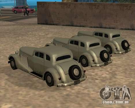 Carro Novo (Hustler) para GTA San Andreas vista traseira