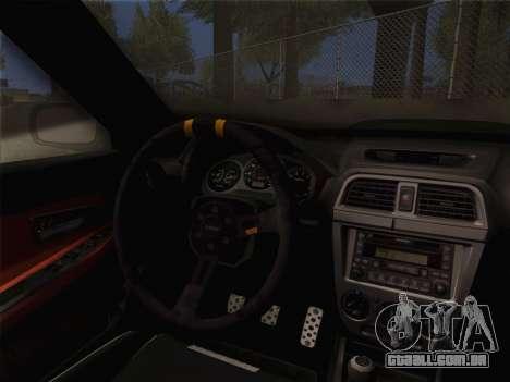 Subaru Impreza Hellaflush para GTA San Andreas vista direita