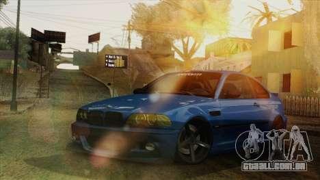 BMW M3 E46 STANCE para GTA San Andreas vista interior