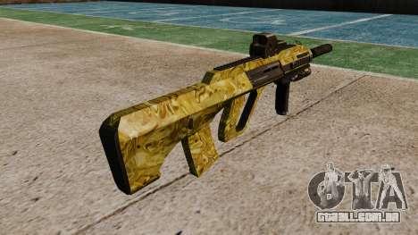 Máquina de Steyr AUG-A3 Óptica de Ouro para GTA 4 segundo screenshot
