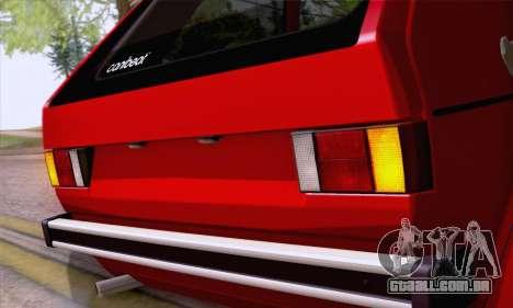 Volkswagen Golf Mk I 1978 para GTA San Andreas vista traseira