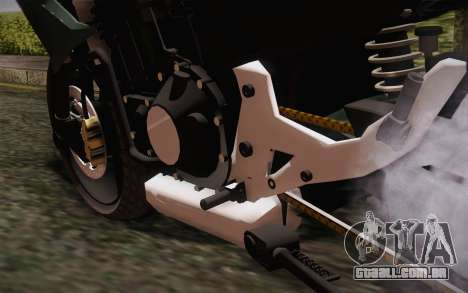 Yamaha FZ6 para GTA San Andreas vista traseira