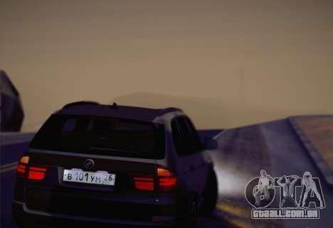 BMW X5M 2013 para GTA San Andreas vista traseira