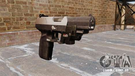 Arma FN Cinco sete LAM Chrome para GTA 4