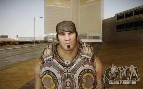 Marcus Fenix из Gears of War 3 para GTA San Andreas terceira tela