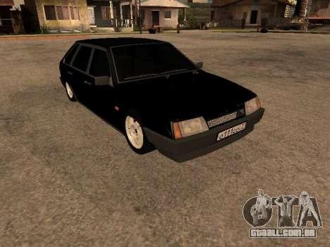 VAZ 2109 Gangster nove V 1.0 para GTA San Andreas traseira esquerda vista