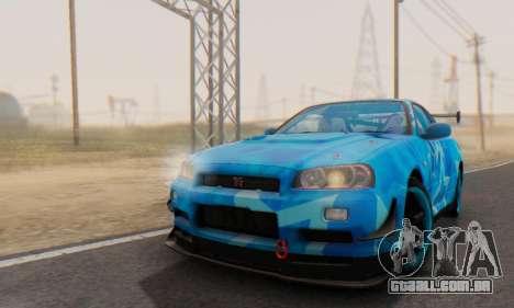 Nissan Skyline GTR 34 Blue Star para GTA San Andreas