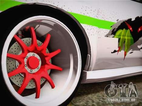 Subaru Impreza Hellaflush para GTA San Andreas traseira esquerda vista