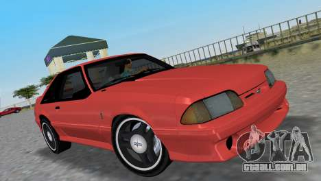 Ford Mustang Cobra 1993 para GTA Vice City vista traseira
