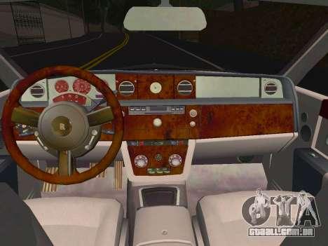 Rolls-Royce Phantom Limo para GTA San Andreas vista traseira