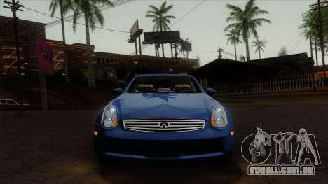 Infiniti G35 Coupe (V35) 2003 para GTA San Andreas vista traseira