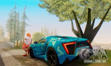 W-Motors Lykan Hypersport 2013 Blue Star para GTA San Andreas