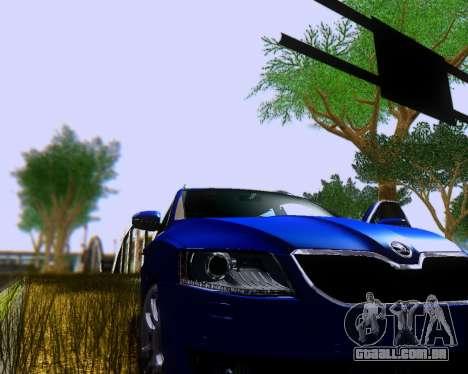 Skoda Octavia A7 Combi para GTA San Andreas traseira esquerda vista