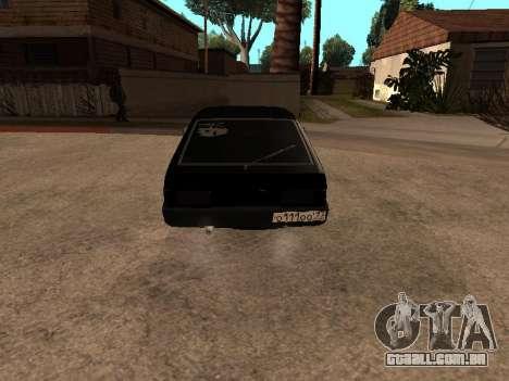 VAZ 2109 Gangster nove V 1.0 para GTA San Andreas vista traseira