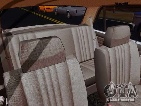 VAZ 2105 Riva para GTA San Andreas vista interior