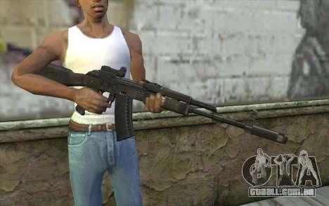 AK74M para GTA San Andreas terceira tela