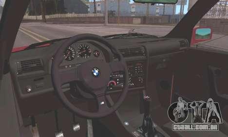 BMW E30 M3 1991 para GTA San Andreas vista traseira
