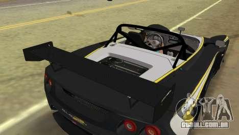 Lotus 2-Eleven para GTA Vice City vista traseira