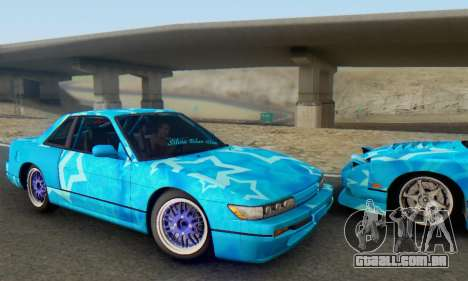 Nissan Silvia S13 Blue Star para GTA San Andreas vista traseira
