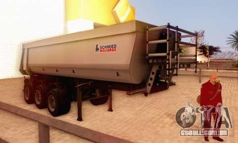 Schmied Bigcargo Solid Stock para GTA San Andreas traseira esquerda vista
