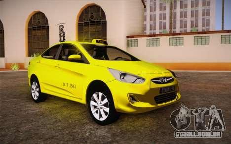 Hyundai Accent Taxi 2013 para GTA San Andreas