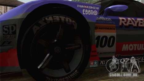 Honda NSX World Grand Prix para GTA San Andreas traseira esquerda vista