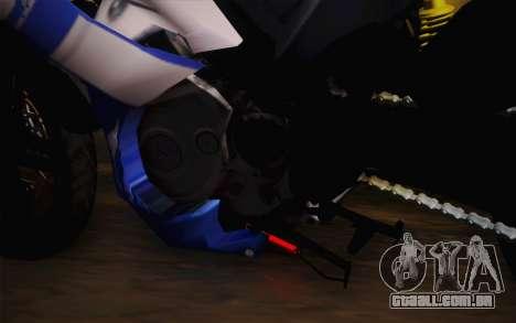 Yamaha YZF R15 para GTA San Andreas vista traseira
