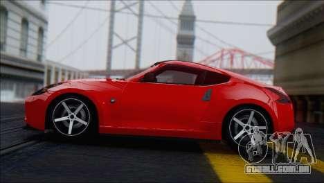 Nissan 370Z Vossen para GTA San Andreas vista traseira