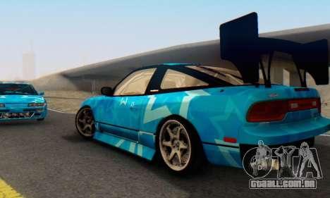 Nissan 240SX Blue Star para GTA San Andreas vista interior
