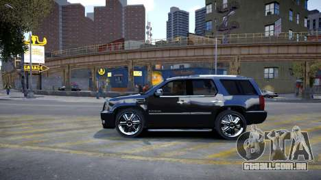 Cadillac Escalade para GTA 4 traseira esquerda vista