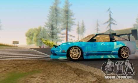 Nissan 240SX Blue Star para GTA San Andreas traseira esquerda vista