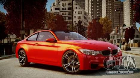 BMW M4 Coupe 2014 v1.0 para GTA 4 traseira esquerda vista