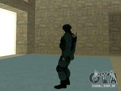 Pele SOBR para GTA San Andreas quinto tela
