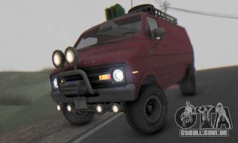 Dodge Tradesman Van 1976 para GTA San Andreas esquerda vista