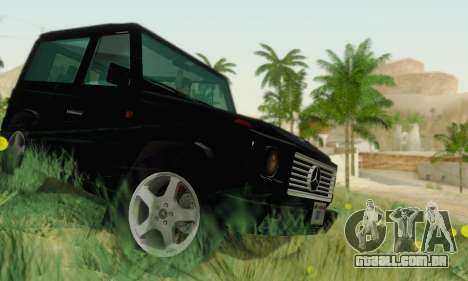 Mercedes-Benz G500 1999 Short para GTA San Andreas vista interior