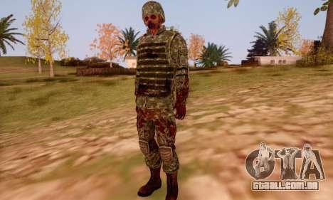 Zombie Soldier para GTA San Andreas sexta tela