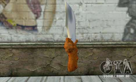 Colecionáveis faca para GTA San Andreas segunda tela