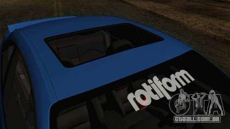 BMW M3 E46 STANCE para GTA San Andreas vista traseira