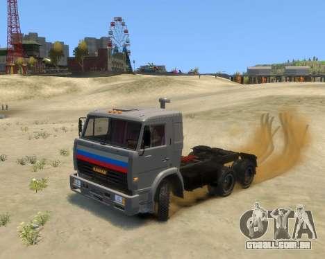 KamAZ-54115 para GTA 4 traseira esquerda vista