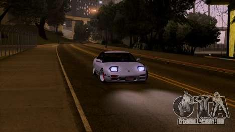 Nissan 240sx Low para GTA San Andreas traseira esquerda vista